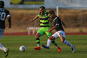 Forest Green Rovers Liam Noble(8) on the ball during the Pre-Season Friendly match between SC Farense and Forest Green Rovers at Estadio Municipal de Albufeira, Albufeira, Portugal on 25 July 2017. Photo by Shane Healey.