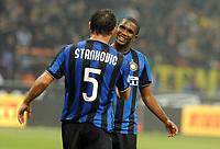 Samuel Eto'o e Dejan Stankovic<br /> Inter-Palermo 5-3 <br /> Campionato di calcio serie A 2009/2010<br /> Milano, 29 Ottobre 2009<br /> Inter Palermo 5-3<br /> Foto Paolo Bona Insidefoto