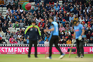A watermelon inflatable is knocked around in the crowd during the final of the Vitality T20 Finals Day 2018 match between Worcestershire Rapids and Sussex Sharks at Edgbaston, Birmingham, United Kingdom on 15 September 2018.