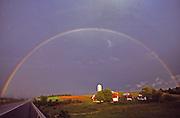 PA landscapes, Rainbow, Berks County, Pennsylvania, Farm
