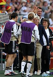 05.07.2011, Borussia-Park, Moenchengladbach, GER, FIFA Women Worldcup 2011, Gruppe A,  Frankreich (FRA) Deutschland (GER) ,. im Bild Jubel Trainerin Silvia Neid (GER) nach dem 1:0 durch Kerstin Garefrekes . // during the FIFA Women´s Worldcup 2011, Pool A,France vs Germany on 2011/06/26, Borussia-Park, Moenchengladbach, Germany. EXPA Pictures © 2011, PhotoCredit: EXPA/ nph/  Karina Hessland       ****** out of GER / CRO  / BEL ******