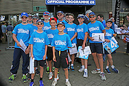 Young fans with their Cricket united t shirts during the 3rd day of the Investec Ashes Test match between England and Australia at the Oval, London, United Kingdom on 22 August 2015. Photo by Phil Duncan.