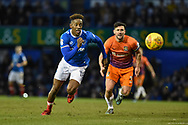 Portsmouth Forward, Jamal Lowe (18) chases down the ball during the EFL Sky Bet League 1 match between Portsmouth and Northampton Town at Fratton Park, Portsmouth, England on 30 December 2017. Photo by Adam Rivers.