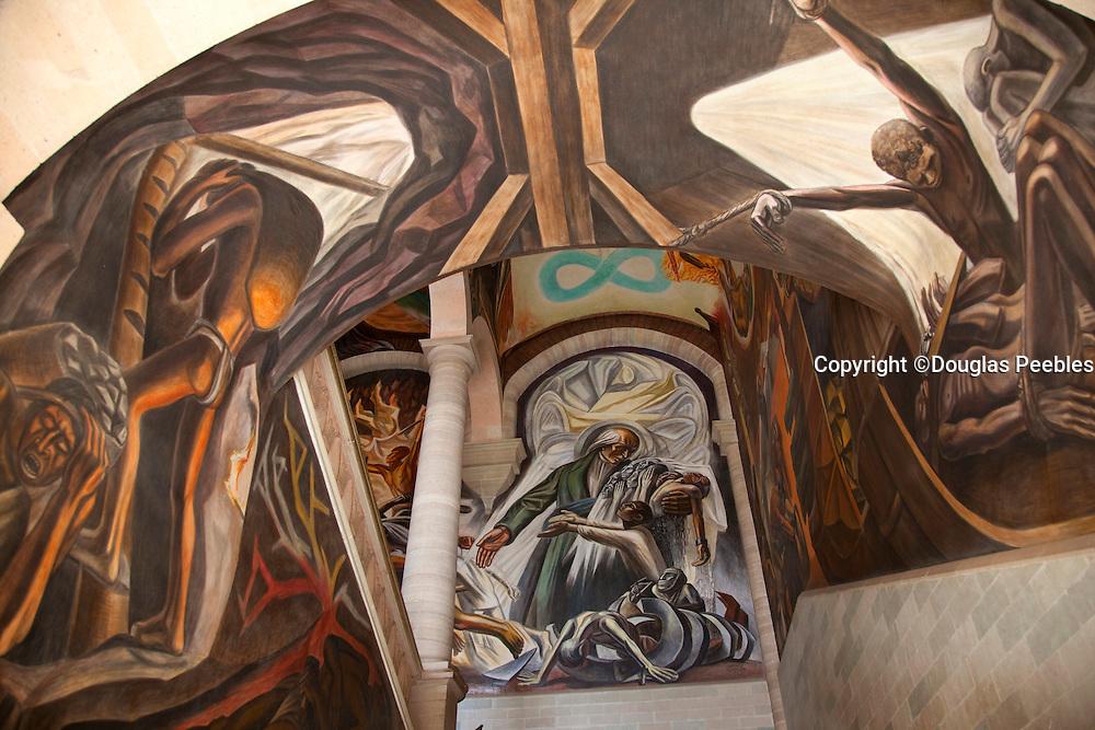 Mural by Chavez Morado, Museo Alhondiga de Ganaditas, Museum Grainery, Guanajuato, Mexico