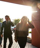 Lomza, 15.09.2019. Wyborcze spotkanie z mieszkancami Lomzy Zbigniewa Ziobro ministra sprawiedliwosci i prezesa Solidarnej Polski N/z (L-P) Aleksandra Szczudlo kandydatka w wyborach do Sejmu i Zbigniew Ziobro fot Michal Kosc / AGENCJA WSCHOD