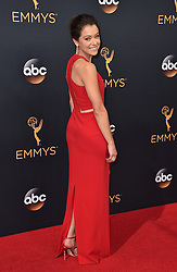 Tatiana Maslany attends the 68th Annual Primetime Emmy Awards at Microsoft Theater on September 18, 2016 in Los Angeles, CA, USA. Photo by Lionel Hahn/ABACAPRESS.COM