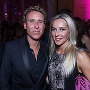 NLD/Amsterdam/20131111 - Beau Monde Awards 2013, Michael Boogerd en partner Darya Nucci