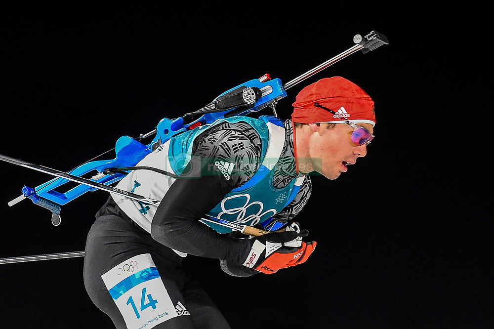 February 18, 2018 - Pyeongchang, Gangwon, South Korea - Simon Schempp of Germany  competing in  15 km mass start biathlon at Alpensia Biathlon Centre, Pyeongchang,  South Korea on February 18, 2018. (Credit Image: © Ulrik Pedersen/NurPhoto via ZUMA Press)