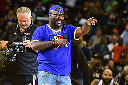 July 6, 2018 - Oakland, California, United States - Rapper Mistah F.A.B. performs during Week 3 of the BIG3 3-on-3 basketball league at Oracle Arena. (Credit Image: © Debby Wong via ZUMA Wire)