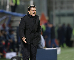 December 4, 2017 - Crotone, Calabria, Italy - Head coach of Udinese Massimo Oddo during the Serie A match between FC Crotone and Udinese Calcio at Stadio Comunale Ezio Scida on December 4, 2017 in Crotone, Italy. (Credit Image: © Gabriele Maricchiolo/NurPhoto via ZUMA Press)