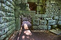 Albanie, province de Vlore, site archeologique de Butrint, Patrimoine mondial de l'Unesco, porte du lion // Albania, Vlore province, Butrint, Ruins of the greek city, UNESCO World Heritage Site, lion door