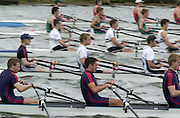 Nottingham, National Rowing Championship.<br /> 2001 Championships<br /> Photo Peter Spurrier.<br /> <br /> Aurial Kensington women's pairs.<br /> <br /> Quads M4X from the start looking across the lanes.<br /> <br /> Slow Shutter     [Mandatory Credit;Peter SPURRIER;Intersport Images] 20010723 National Rowing Championships, Nottingham. UK
