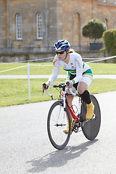 © Licensed to London News Pictures.  18/08/2012. OXFORD, UK. Simone Kennedy (pictured), a member of the Australian Paralympic cycling team, takes part in the 20km time trial during the Bike Blenheim Palace festival in Woodstock, near Oxford.  The annual event is taking place over the weekend of 18th and 19th August. Photo credit :  Cliff Hide/LNP