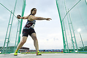 Melanie Pingeon (FRA) competes on Women's Discus Throw during the Jeux Mediterraneens 2018, in Tarragona, Spain, Day 7, on June 28, 2018 - Photo Stephane Kempinaire / KMSP / ProSportsImages / DPPI