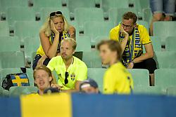 August 31, 2017 - Sofia, BULGARIEN - 170831 Deppande svenska fans efter VM-kvalmatchen i fotboll mellan Bulgarien och Sverige den 31 augusti 2017 i Sofia  (Credit Image: © Joel Marklund/Bildbyran via ZUMA Wire)