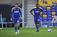 AFC Wimbledon defender Darnell Johnson (27) about to take free kicj during the EFL Sky Bet League 1 match between AFC Wimbledon and Milton Keynes Dons at Plough Lane, London, United Kingdom on 30 January 2021.