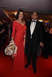 Christina Estrada and Sanjeev Premchand at the Chain of Hope Gala Ball held at the Grosvenor House Hotel, Park Lane, London England. 17 November 2017.<br /> Photo by Dominic O'Neill/SilverHub 0203 174 1069 sales@silverhubmedia.com
