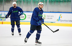 "Anze Kuralt during practice session of Slovenian Ice Hockey National team before ""Beat Covid-19 Ice Hockey Tournament"", on May 12, 2021 in Hala Tivoli, Ljubljana, Slovenia. Photo by Vid Ponikvar / Sportida"