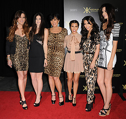 (L-R) Khloe Kardashian, Kylie Jenner, Kris Jenner, Kourtney Kardashian, Kim Kardashian and Kendall Jenner attend the Kardashian Kollection Launch Party at The Colony in Los Angeles, CA, USA on August 17, 2011. Photo by Lionel Hahn/ABACAPRESS.COM  | 286318_009 Los Angeles Unitd Etats-Unis United States