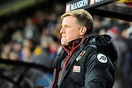 AFC Bournemouth manager Eddie Howe before the Premier League match between Bournemouth and Arsenal at the Vitality Stadium, Bournemouth, England on 3 January 2017. Photo by Graham Hunt.