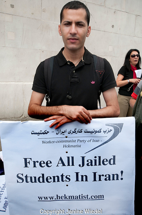 Iranian protest in London about torture and imprisonment of citizens in Iran