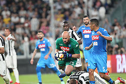 April 22, 2018 - Torino, Piemonte, Italy - in the picture the goalkeeper of Napoli reina denies the goal to the juventus.22 April 2018 - Turin, Italy - final match between F.C. Juneventu and SSC Napoli, at the Allianz Stadium in Turin, which is awarded the Scudetto in Serie A in Italy..Napoli wins 1-0. (Credit Image: © Fabio Sasso/Pacific Press via ZUMA Wire)