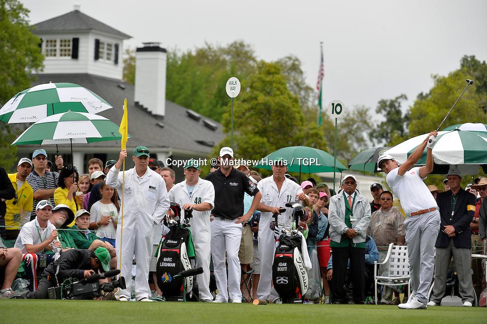 Adam SCOTT (AUS) during fourth round,US Masters 2013,Augusta National,Augusta,Georgia,USA.