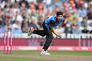 Pat Brown of Worcestershire Rapids bowling during the Vitality T20 Finals Day Semi Final 2018 match between Worcestershire Rapids and Lancashire Lightning at Edgbaston, Birmingham, United Kingdom on 15 September 2018.