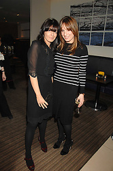 Left to right, CLAUDIA WINKLEMAN and EMILY OPPENHEIMER-TURNER at a party to celebrate the publication of Lisa B's book 'Lifestyle Essentials' held at the Cook Book Cafe, Intercontinental Hotel, Park Lane London on 10th April 2008.<br />