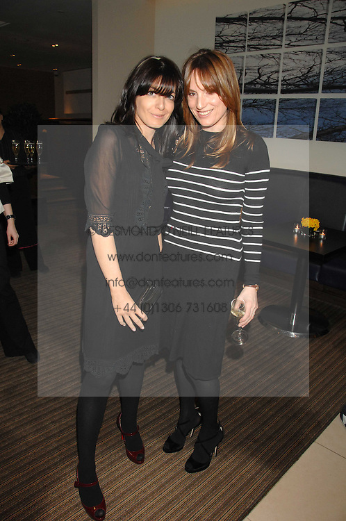 Left to right, CLAUDIA WINKLEMAN and EMILY OPPENHEIMER-TURNER at a party to celebrate the publication of Lisa B's book 'Lifestyle Essentials' held at the Cook Book Cafe, Intercontinental Hotel, Park Lane London on 10th April 2008.<br /><br />NON EXCLUSIVE - WORLD RIGHTS