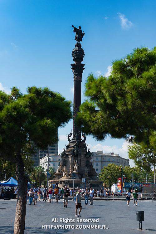 Columbus Monument in Barcelona port
