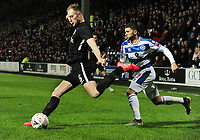 Football - 2018 / 2019 Emirates FA Cup - Fourth Round, Replay: Queens Park Rangers vs. Portsmouth<br /> <br /> l-r Matthew Clarke and Nahki Wells (QPR)  at Loftus Road.<br /> <br /> COLORSPORT/ANDREW COWIE