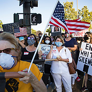 Linda Beck-Kuban, front, organized a Thousand Oaks, CA, march in support of Black Lives Matter and honoring George Floyd on the day he was buried.