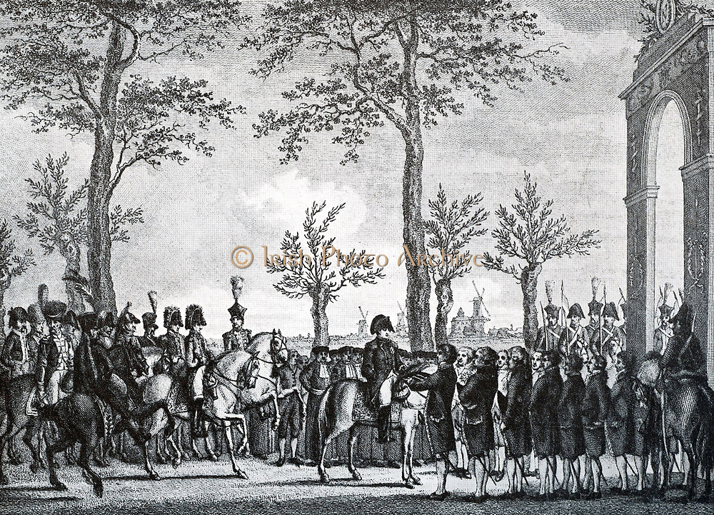 Entry of Napoleon in Amsterdam. In the autumn of 1811
