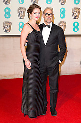 © Licensed to London News Pictures. 14/02/2016. London, UK. FELICITY BLUNT and STANLEY TUCCI <br /> iarrivs on the red carpet for the EE British Academy Film Awards 2016 after party held at Grosvenor House . London, UK. Photo credit: Ray Tang/LNPPhoto credit: Ray Tang/LNP