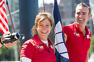 IMOCA Ocean Masters. New York - Barcelona Race start. Pictures of Gaes Sailing Team Hugo skippered by Anna Corbella (ESP) & Gerard Marin (ESP)<br /> Credit: Mark Lloyd/Lloyd Images