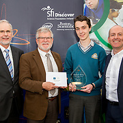 27.04.2016.          <br />  Kalin Foy and Ciara Coyle win SciFest@LIT<br /> Kalin Foy and Ciara Coyle from Colaiste Chiarain Croom to represent Limerick at Ireland's largest science competition.<br /> <br /> Kilrush Community School student, Cathal Keane's project, Reducing CO2 emissions using enzymes, won Biopharmachemical Ireland Chemistry award.  Cathal Keane is pictured with George Porter, SciFest, Pacal Meehan, LIT and Brian Aherne, Intel.<br /> <br /> Of the over 110 projects exhibited at SciFest@LIT 2016, the top prize on the day went to Kalin Foy and Ciara Coyle from Colaiste Chiarain Croom for their project, 'To design and manufacture wireless trailer lights'. The runner-up prize went to a team from John the Baptist Community School, Hospital with their project on 'Educating the Youth of Ireland about Farm Safety'. Picture: Fusionshooters