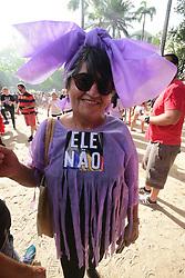 September 29, 2018 - Recife, Brazil - RECIFE, PE - 29.09.2018: WOMEN AGAINST BOLSONARO RECIFE - Women protest against Bolsonaro in the center of Recife. Concentration in Derby Square in the central area of ??Recife. (Credit Image: © Veetmano Prem/Fotoarena via ZUMA Press)