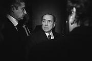 Silvio Berlusconi durante la presentazione dell'ultimo libro di Bruno Vespa. Roma 16 dicembre 2015. Christian Mantuano / OneShot