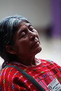 During the initial day of the Amer-Indian conference in Tecate, Mexico, September 21, 1994, many indiginous tribes (or nations as they are called) were inattendance at this unique gathering.  One nation, the Triqui Indians from Baja California, brought their unique weavings.  This lady, Augustina Martinez, was one of the weavers.