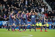 Marcos Aoas Correa dit Marquinhos (PSG) celebrated it goal scored with Angel Di Maria (psg), Javier Matias Pastore (psg), Edinson Roberto Paulo Cavani Gomez (psg) (El Matador) (El Botija) (Florestan), Presnel Kimpembe (PSG), Thomas Meunier (PSG), Giovani Lo Celso (PSG) during the French Cup, round of 32, football match between Paris Saint-Germain and EA Guingamp on January 24, 2018 at Parc des Princes stadium in Paris, France - Photo Stephane Allaman / ProSportsImages / DPPI