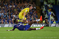 Michy Batshuayi of Chelsea scores his sides 3rd goal of the match to make it 3-1.EFL Cup 2nd round match, Chelsea v Bristol Rovers at Stamford Bridge in London on Tuesday 23rd August 2016.<br /> pic by John Patrick Fletcher, Andrew Orchard sports photography.