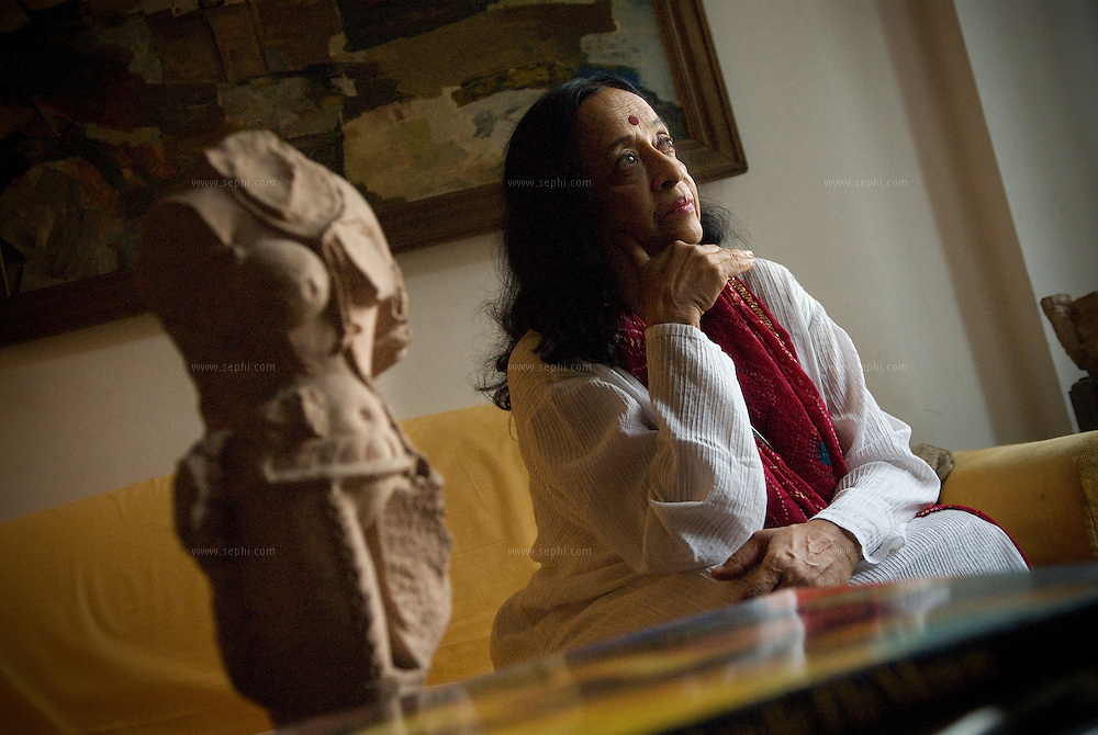 Artist Anjolie Ela Menon at  her home in New Delhi, September 2008