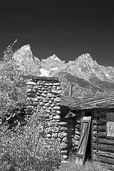 Old cabin,derelict buildings, Bar B C Guest Ranch, Grand Teton Park, Jackson Hole Wyoming