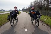 Ligfietsdag - riding a recumbent