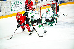 Saso Rajsar vs BRUS Nejc during Alps League Ice Hockey match between HDD SIJ Jesenice and HK SZ Olimpija on January 2, 2021 in Ice Arena Podmezakla, Jesenice, Slovenia. Photo by Peter Podobnik / Sportida
