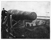 The biggest gun on them all A photograph of the only 20-inch gun made during the war. It weighed 117,000 pounds. from the book ' The Civil war through the camera ' hundreds of vivid photographs actually taken in Civil war times, sixteen reproductions in color of famous war paintings. The new text history by Henry W. Elson. A. complete illustrated history of the Civil war