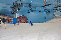 Skiing, Ski Dubai, an indoor ski slope in the Mall of the Emirates, Dubai, United Arab Emirates