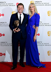 Joely Richardson presents Sean Bean with his leading actor award in the press room at the Virgin TV British Academy Television Awards 2018 held at the Royal Festival Hall, Southbank Centre, London.