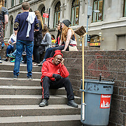 Site maintenance worker, Zuccotti Park, New York. 2014.#photoobserve  #streetphotography #canpubphoto #in_public_collective #in_public_sp #observecollective #lensculturestreets#newyorkcity#everybodystreet #streetlife_award #streetleaks #wearethestreet #ourstreets  #burnmyeye #streetsgrammar#nycspc#storyofthestreet#cityclickr#scotsurbeckphotographer